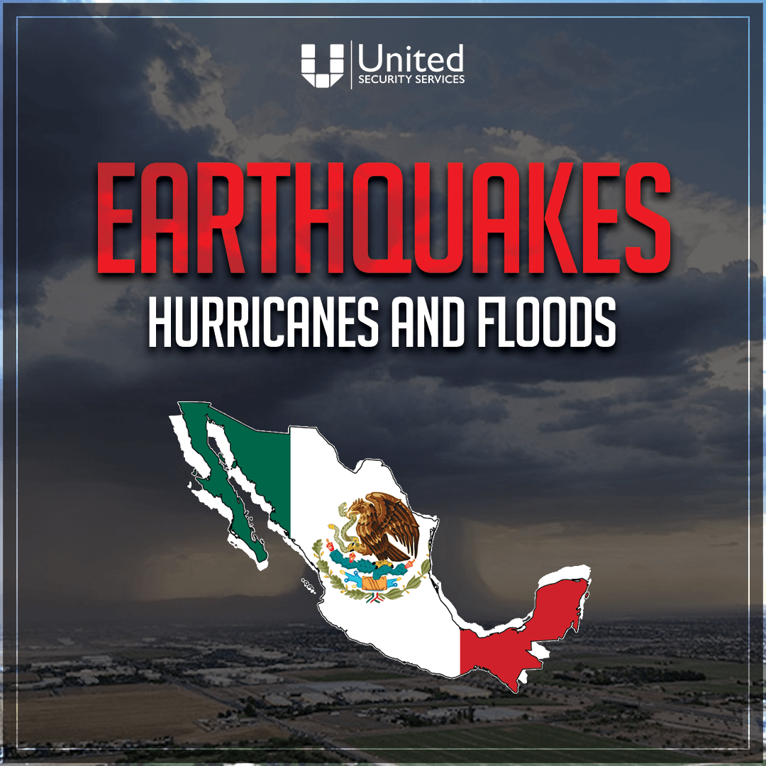 earthquakes, hurricanes and floods