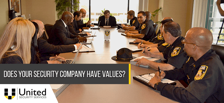Does your security company have values?